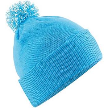 Asusteet / tarvikkeet Tytöt Pipot Beechfield Snowstar Surf Blue/Off White