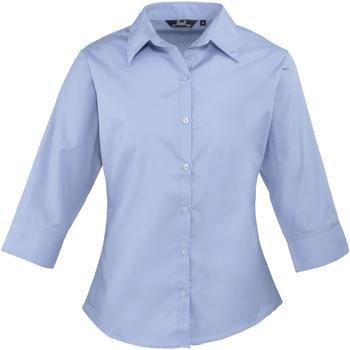 vaatteet Naiset Paitapusero / Kauluspaita Premier Poplin Mid Blue