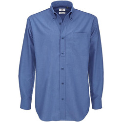 vaatteet Miehet Pitkähihainen paitapusero B And C SMO01 Blue Chip