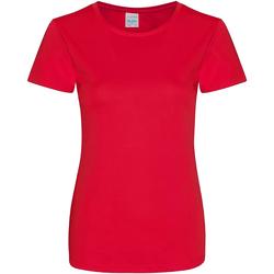 vaatteet Naiset Lyhythihainen t-paita Awdis JC025 Fire Red