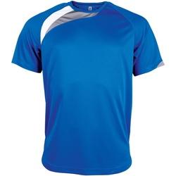 vaatteet Miehet Lyhythihainen t-paita Kariban Proact PA436 Royal Blue/ White/ Storm Grey