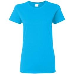 vaatteet Naiset Lyhythihainen t-paita Gildan Missy Fit Heather Sapphire