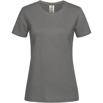 vaatteet Naiset Lyhythihainen t-paita Stedman  Real Grey