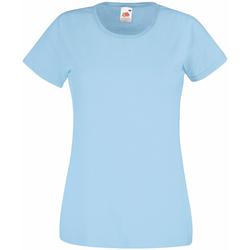 vaatteet Naiset Lyhythihainen t-paita Universal Textiles 61372 Light Blue