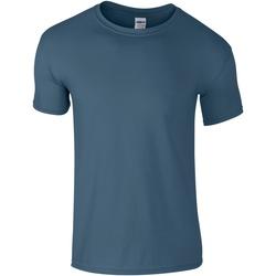 vaatteet Miehet Lyhythihainen t-paita Gildan Soft-Style Indigo Blue