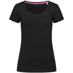 vaatteet Naiset Lyhythihainen t-paita Stedman Stars  Black Opal
