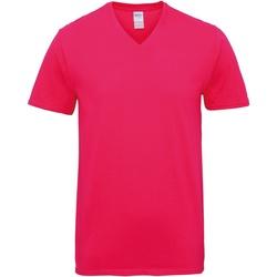 vaatteet Miehet Lyhythihainen t-paita Gildan GD016 Heliconia