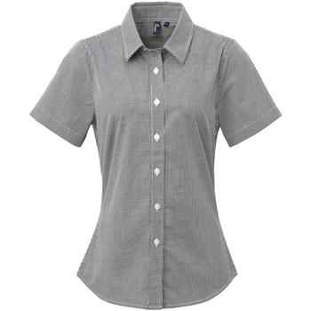 vaatteet Naiset Paitapusero / Kauluspaita Premier PR321 Black/White