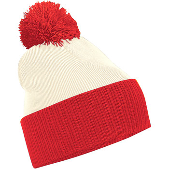 Asusteet / tarvikkeet Pojat Pipot Beechfield B451 Off White/Bright Red
