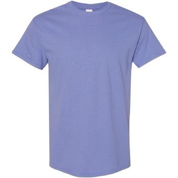 vaatteet Miehet Lyhythihainen t-paita Gildan Heavy Violet
