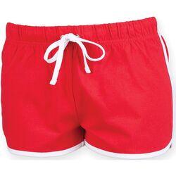 vaatteet Naiset Shortsit / Bermuda-shortsit Skinni Fit SK069 Red/ White