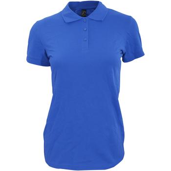 vaatteet Naiset Lyhythihainen poolopaita Sols 11347 Royal Blue