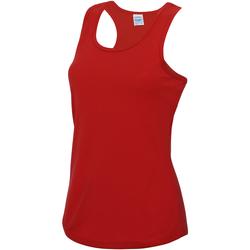 vaatteet Naiset Hihattomat paidat / Hihattomat t-paidat Awdis JC015 Fire Red