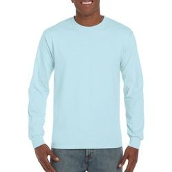 vaatteet Miehet T-paidat pitkillä hihoilla Gildan Hammer Chambray