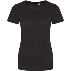 vaatteet Naiset Lyhythihainen t-paita Awdis JT01F Heather Black