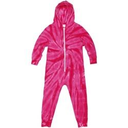 vaatteet Lapset pyjamat / yöpaidat Colortone Die Tye Spider Pink