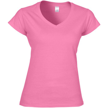 vaatteet Naiset Lyhythihainen t-paita Gildan Soft Style Azalea