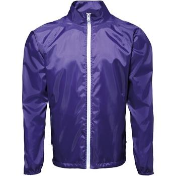 vaatteet Miehet Tuulitakit 2786  Purple/ White
