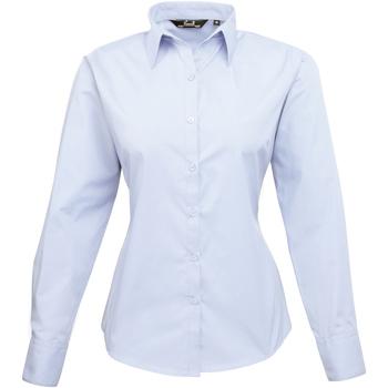 vaatteet Naiset Paitapusero / Kauluspaita Premier PR300 Light Blue