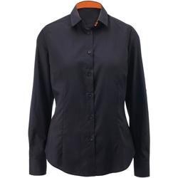 vaatteet Naiset Paitapusero / Kauluspaita Alexandra AX060 Black/ Orange