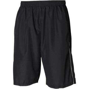 vaatteet Miehet Shortsit / Bermuda-shortsit Tombo Teamsport Longline Black/White