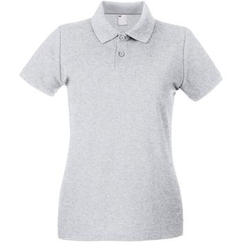 vaatteet Naiset Lyhythihainen poolopaita Universal Textiles 63030 Grey Marl