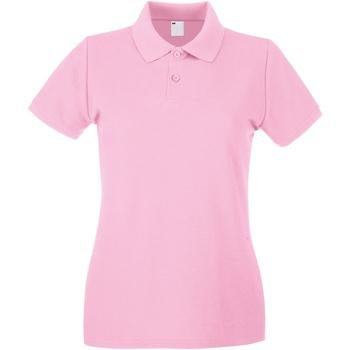 vaatteet Naiset Lyhythihainen poolopaita Universal Textiles 63030 Baby Pink