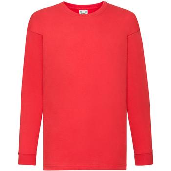 vaatteet Lapset T-paidat pitkillä hihoilla Fruit Of The Loom 61007 Red