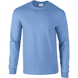 vaatteet Miehet T-paidat pitkillä hihoilla Gildan 2400 Carolina Blue