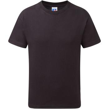 vaatteet Pojat Lyhythihainen t-paita Jerzees Schoolgear J155B Black