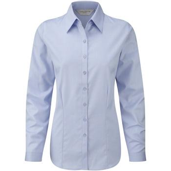 vaatteet Naiset Paitapusero / Kauluspaita Russell 962F Light Blue