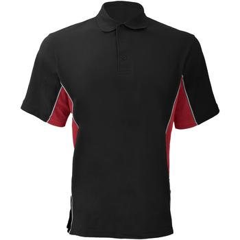 vaatteet Miehet Lyhythihainen poolopaita Gamegear KK475 Black/Red/White