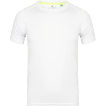 vaatteet Miehet Lyhythihainen t-paita Tombo Teamsport TL515 White / White