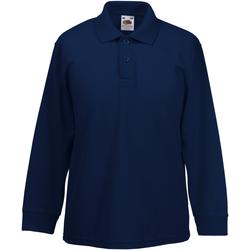 vaatteet Pojat Pitkähihainen paitapusero Fruit Of The Loom 63201 Deep Navy