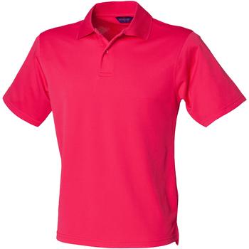 vaatteet Miehet Lyhythihainen poolopaita Henbury HB475 Bright Pink