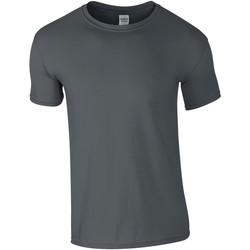 vaatteet Miehet Lyhythihainen t-paita Gildan GD01 Charcoal