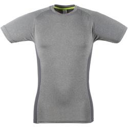 vaatteet Miehet Lyhythihainen t-paita Tombo Teamsport TL515 Grey Marl / Grey
