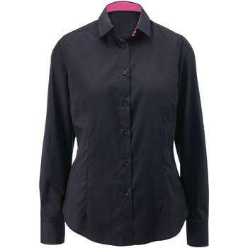 vaatteet Naiset Paitapusero / Kauluspaita Alexandra AX060 Black/ Pink