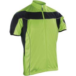 vaatteet Miehet Fleecet Spiro S188M Black/Fluorescent Lime