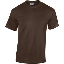 vaatteet Lapset Lyhythihainen t-paita Gildan 5000B Dark Chocolate