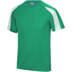 vaatteet Miehet Lyhythihainen t-paita Just Cool JC003 Kelly Green/Arctic White