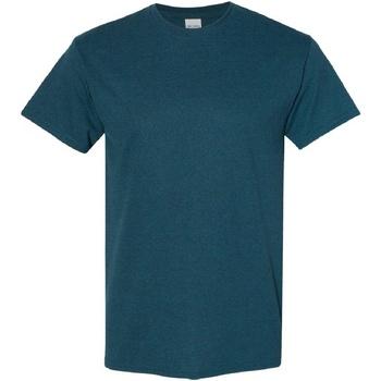 vaatteet Miehet Lyhythihainen t-paita Gildan Heavy Midnight