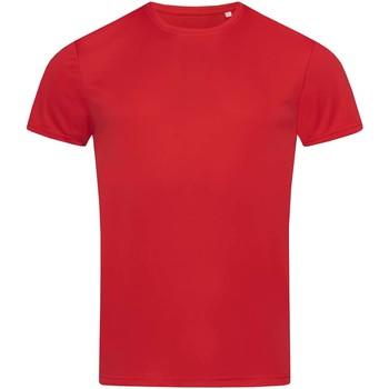 vaatteet Miehet Lyhythihainen t-paita Stedman  Crimson Red