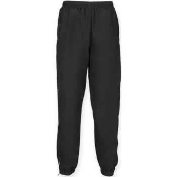 vaatteet Miehet Verryttelyhousut Tombo Teamsport TL470 Black/White Piping