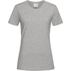 vaatteet Naiset Lyhythihainen t-paita Stedman  Heather Grey