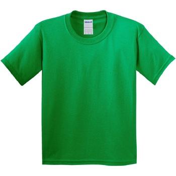 vaatteet Lapset Lyhythihainen t-paita Gildan 64000B Irish Green