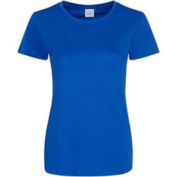 vaatteet Naiset Lyhythihainen t-paita Awdis JC025 Royal Blue