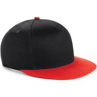 Asusteet / tarvikkeet Lapset Lippalakit Beechfield BC615 Black/ Bright Red