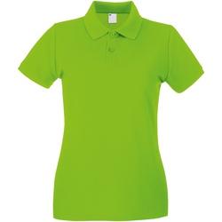 vaatteet Naiset Lyhythihainen poolopaita Universal Textiles 63030 Lime Green