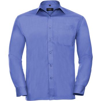 vaatteet Miehet Pitkähihainen paitapusero Russell 934M Corporate Blue